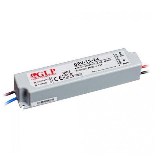 Zasilacz MONTAŻOWY GPV LED 24V / 35W / wodoodporny - IP67