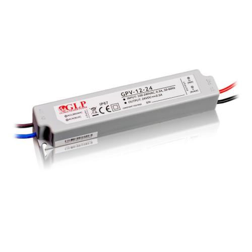 Zasilacz MONTAŻOWY GPV LED 24V / 12W / wodoodporny - IP67