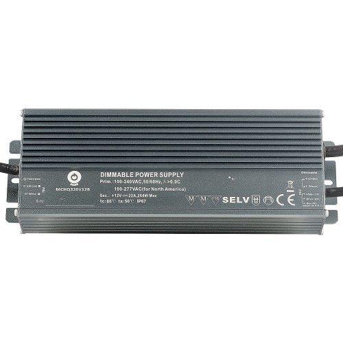 Zasilacz MONTAŻOWY MCHQ LED 24V / 320W / 13A / wodoodporny - IP67 PFC DIM