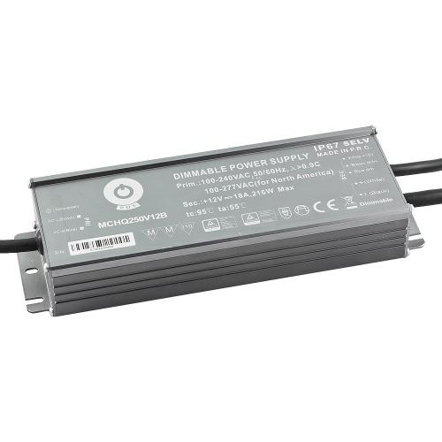 Zasilacz MONTAŻOWY MCHQ LED 12V / 216W / 18A / wodoodporny - IP67 PFC DIM