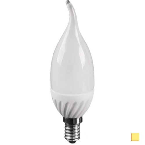 Żarówka LED LEDLINE E14 mały gwint 5W F37 biała dzienna