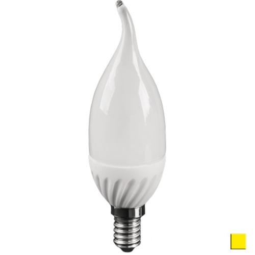 Żarówka LED LEDLINE E14 mały gwint 5W F37 biała ciepła