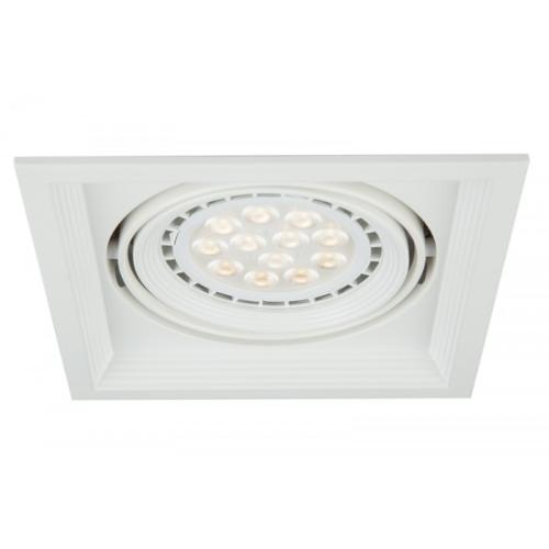 Oprawa sufitowa VITO LED halogenowa dekoracyjna GU10 kwadratowa ruchoma stal biała