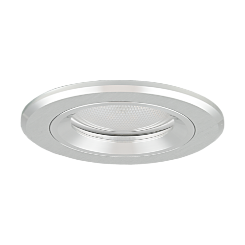Oprawa sufitowa do wbudowania LED dekoracyjna MR16/GU10 okrągła stała aluminiowa