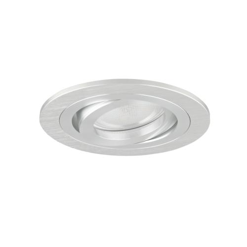 Oprawa sufitowa do wbudowania LED dekoracyjna MR16/GU10 okrągła ruchoma aluminiowa