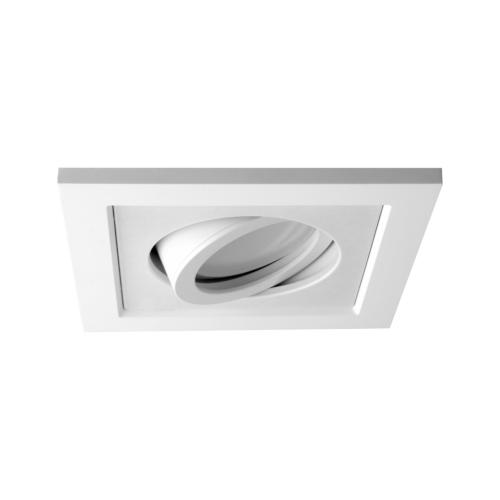 Oprawa sufitowa do wbudowania LED dekoracyjna MR16/GU10 kwadratowa ruchoma z tworzywa biały
