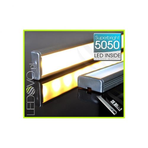 LISTWA LED Semi 5050 / 880 LUMENÓW / biała ciepła / 100cm + WYŁĄCZNIK