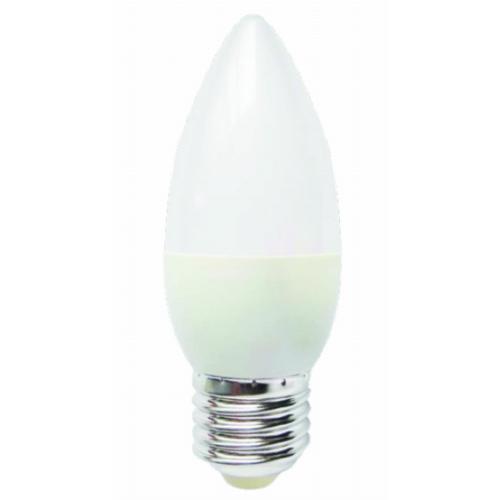 ŻARÓWKA Świeczka LED E27 C30 Duży Gwint 5W BIAŁA CIEPŁA