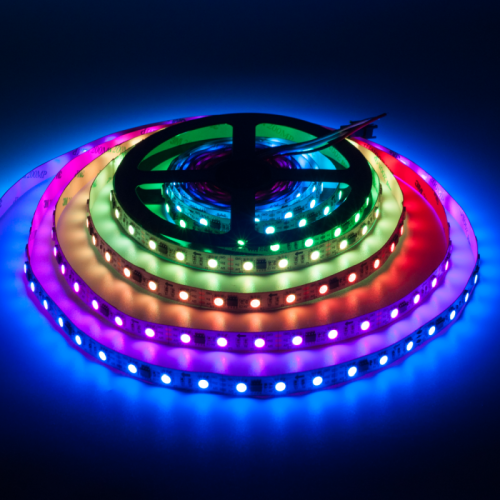 TAŚMA CYFROWA MAGIC STRIP Epistar LED RGB 300LED IP20 1Metr biały laminat