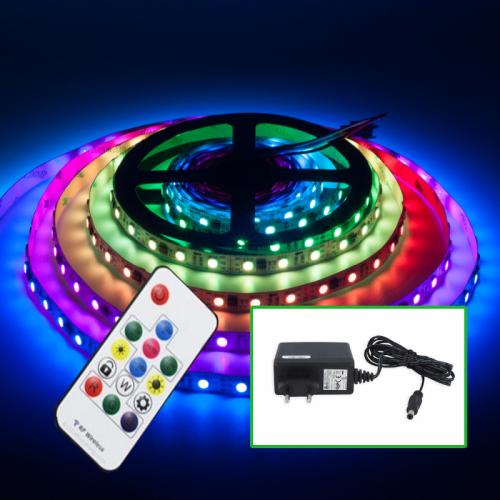 TAŚMA CYFROWA MAGIC LED RGB 5m +STEROWNIK+ZASIL. GNIAZDKOWY