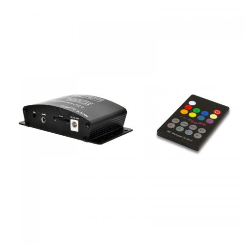 STEROWNIK MUZYCZNY Sound-X +ZASILACZ +TAŚMA LED 5m RGBW