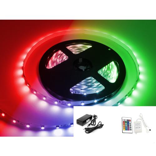 TAŚMA LED RGB 5050 /10metrów/ +ZASILACZ +STEROWNIK RGB