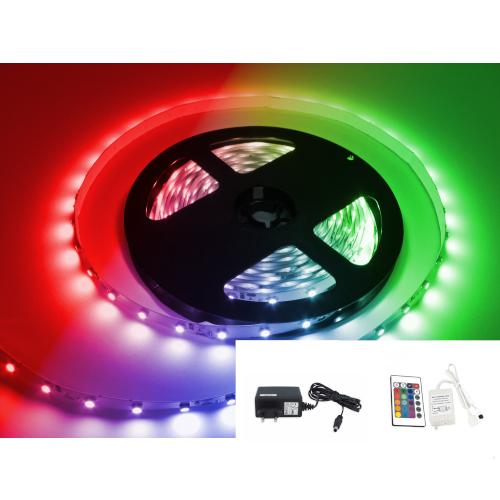 TAŚMA LED RGB 5050 /2mb/ +ZASILACZ +STEROWNIK IR 16 BARW