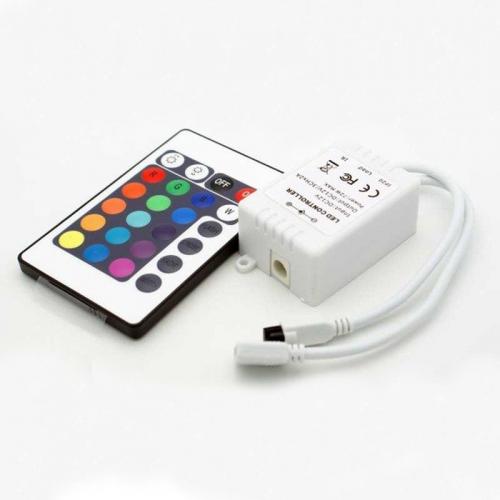 Sterownik LED RGB + pilot / IR (podczerwień) / 24 przyciski