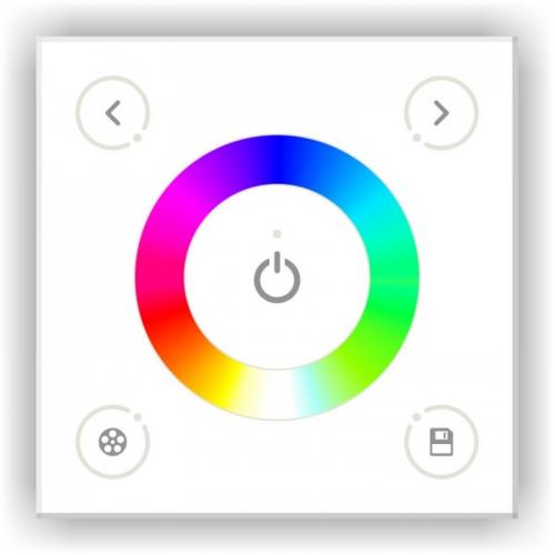 KONTROLER LED RGB ŚCIENNY Z PANELEM DOTYKOWYM BIAŁY