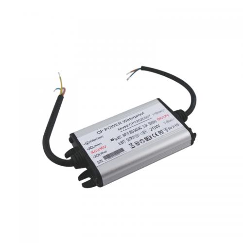 Zasilacz MONTAŻOWY CP Power LED 12V / 20W / 1.67A / wodoodporny / super płaski - IP67