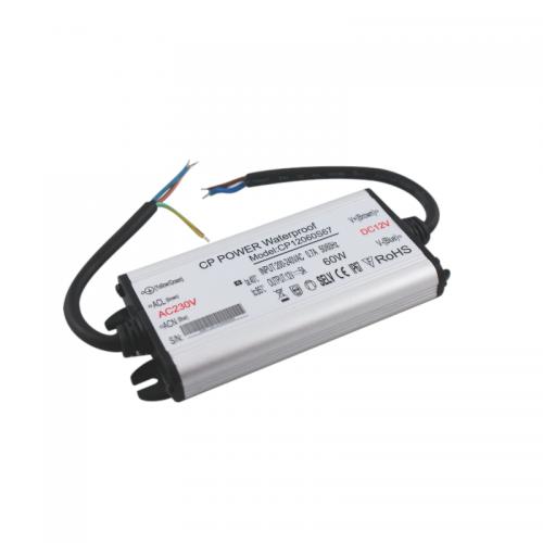 Zasilacz MONTAŻOWY CP Power LED 12V / 60W / 5A / wodoodporny / super płaski - IP67