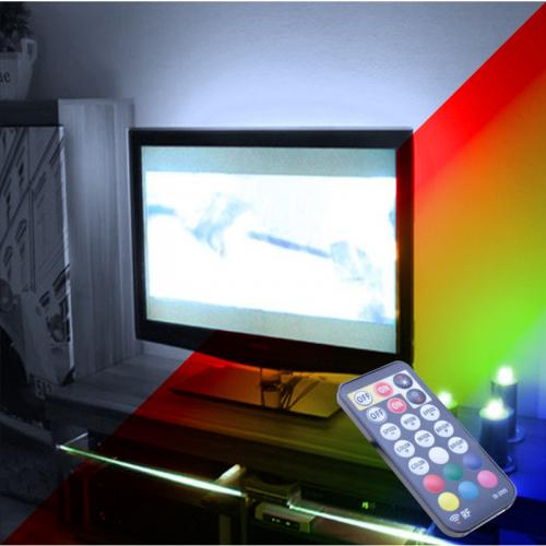 """PODŚWIETLENIE TV LED RGB+Biały Zimny PILOT RADIOWY max 55"""""""