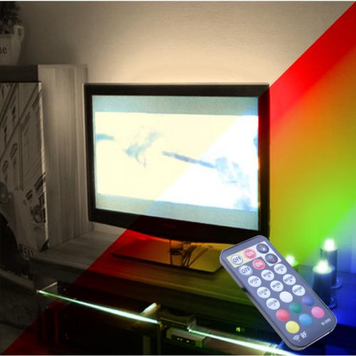 """PODŚWIETLENIE TV LED RGB+Biały Neutralny PILOT RADIOWY 46"""""""