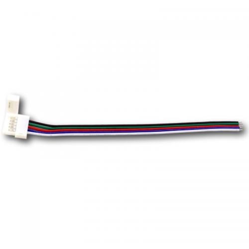 ZŁĄCZKA DO TAŚM LED RGBW Z KABLEM RGBW - pojedyncza 10mm
