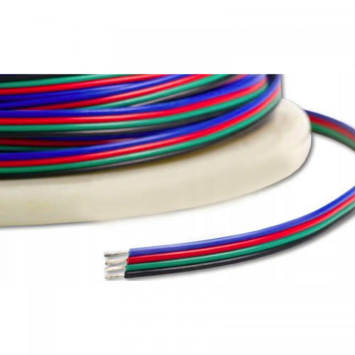 KABEL LED RGB DO TAŚM LED RGB / PRZEWÓD 4x0,35 / 1mb
