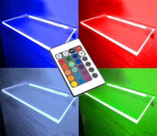 PÓLKA LED Ledovo RGB - 16 BARW - PILOT / 80x20cm