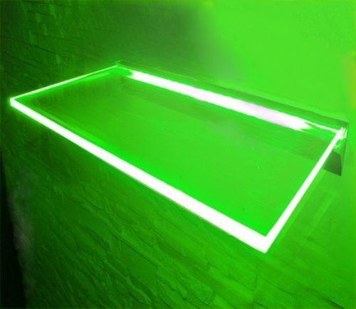 PÓLKA LED Ledovo + ZASILACZ/ 80x20cm/ ZIELONY