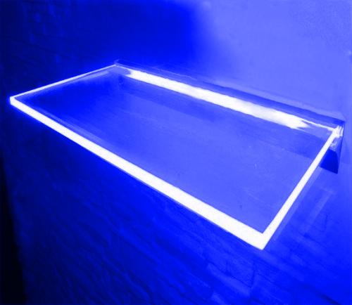 PÓLKA LED Ledovo + ZASILACZ/ 60x20cm/ NIEBIESKI