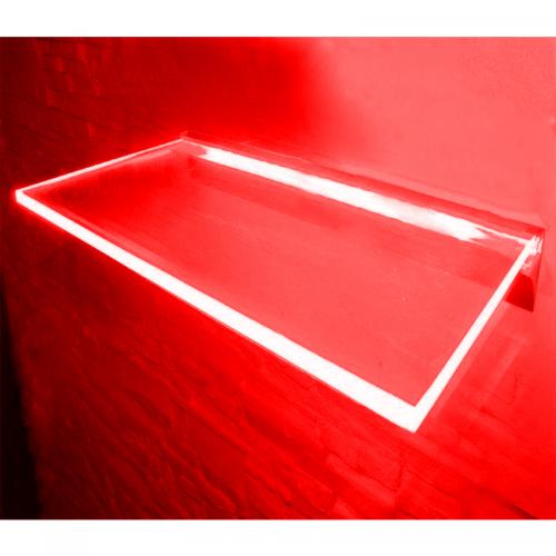 PÓLKA LED Ledovo + ZASILACZ/ 40x20cm/ CZERWONY