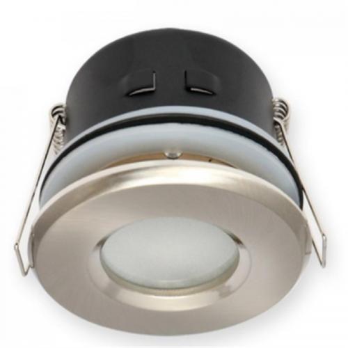 OPRAWA WODOODPORNA LED GU10 MR16/ okrągła satyna-INOX