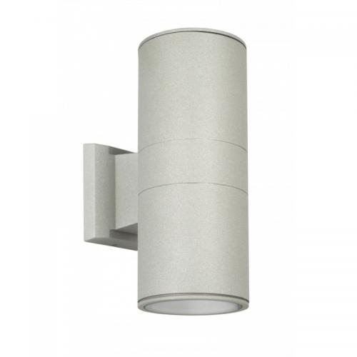Kinkiet Zewnętrzny świecący Góra-Dół 2x E27 Aluminium