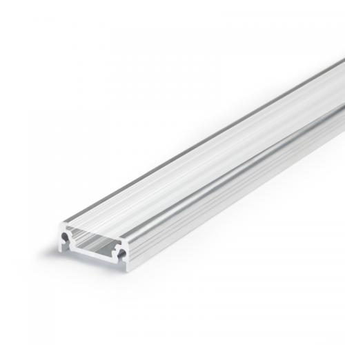 PROFIL LED SX2 aluminium anodowane / szybka szroniona / 1m