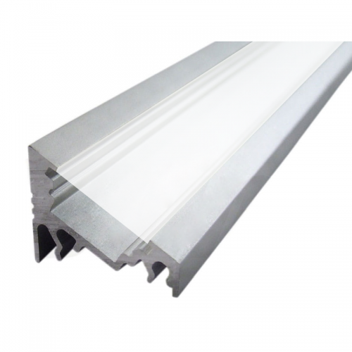 PROFIL KĄTOWY SX1 aluminium anodowane / szybka mleczna / 1m