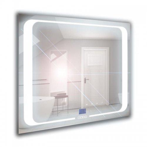 Lustro łazienkowe z oświetleniem LED i zegarem z wyłącznikiem 100x65cm