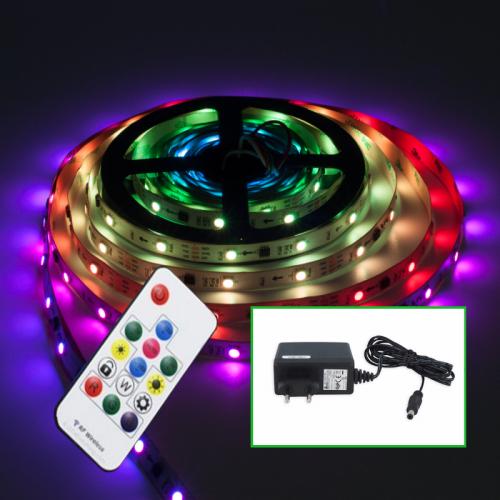 TAŚMA CYFROWA MAGIC LED RGB 150LED 5m +STEROWNIK+ZASIL. GNIAZDKOWY