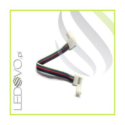 ZŁĄCZKA DO TAŚM LED RGBW Z KABLEM RGBW - podwójna 10mm