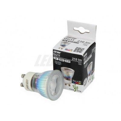 Żarówka LED GU11 SMD 200~240V 3W 210lm biała ciepła 2700K