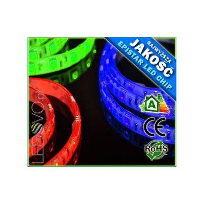 TAŚMA LED RGB Epistar 60 diód/mb / wodoodporna / 5cm