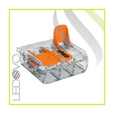 WAGO MINI Złączka uniwersalna do przewodów 3x0,2mm do 4mm