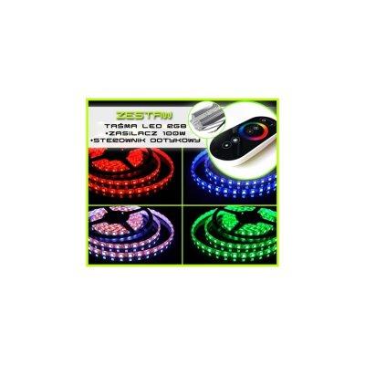TAŚMA 150 LED RGB 5050 /10 mb/ +ZASILACZ +STEROWNIK DOTYKOWY
