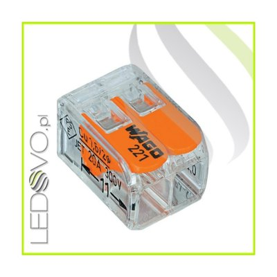 WAGO MINI Złączka uniwersalna do przewodów 2x0,2mm do 4mm
