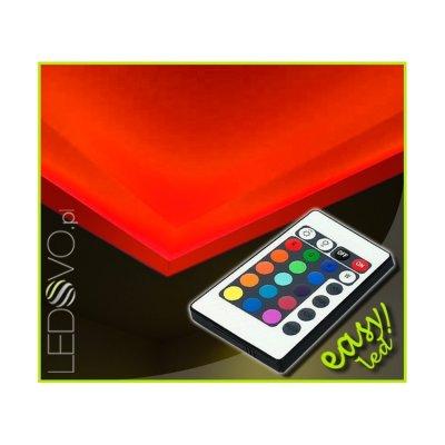 OŚWIETLENIE LED RGB SUFITU Z PILOTEM IR / 20 mb/EPISTAR IP65