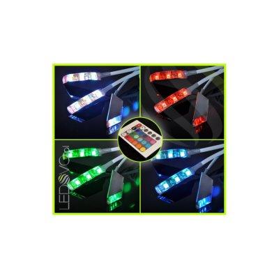KLIPSY LED Ledovo FLUX / ZESTAW 3 KLIPSÓW/ RGB/ kable białe