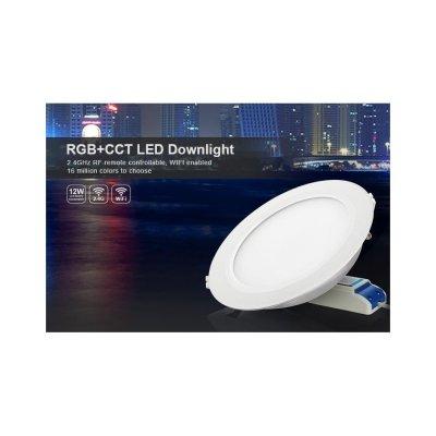 Okrągły Sterowany Panel Sufitowy LED 12W RGB+Multiwhite