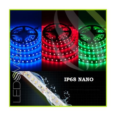 WODOSZCZELNA TAŚMA LED RGB Epistar 5050 300LED IP68 NANO 1m