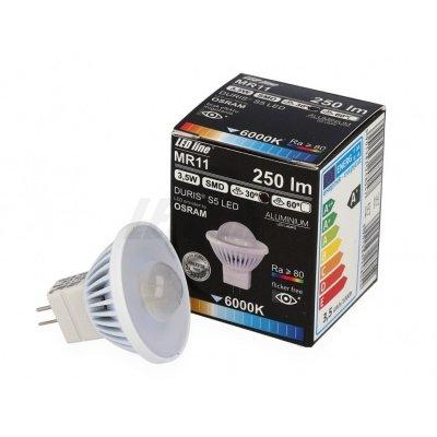 Żarówka LED MR11 SMD 12V DC3,5W 220lm biała ciepła 2700K 30°