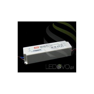 MeanWell Zasilacz HERMETYCZNY LPV60W 12V wodoodporny IP67