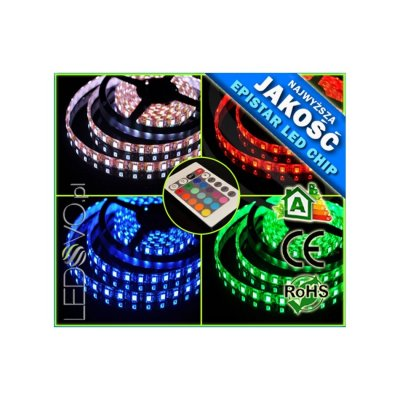 TAŚMA LED RGB Epistar 5050 300 LED /WODOODPORNA/ 1metr / RGB