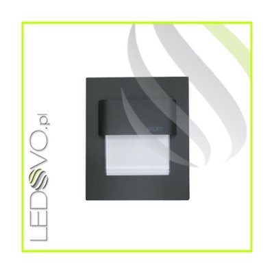 Oprawa Schodowa Szlif 0,8W 10V Czarny Mat Aluminium