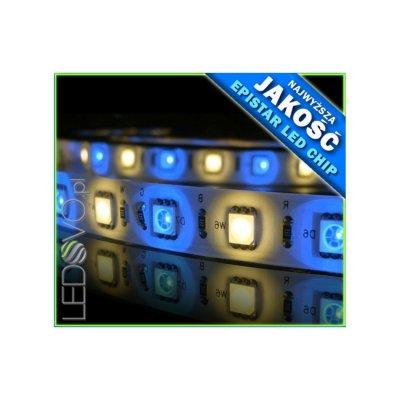 TAŚMA LED RGBW RGB+BIAŁY CIEPŁY / Epistar 5050 300 LED / 5mb